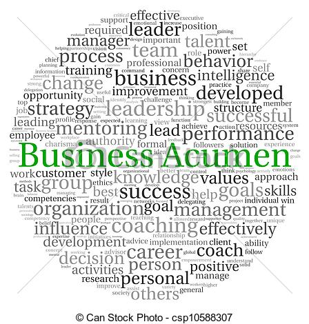 Stock Illustration of Business Acumen concept in word tag cloud on.