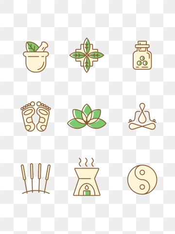 Acupuncture PNG Images.