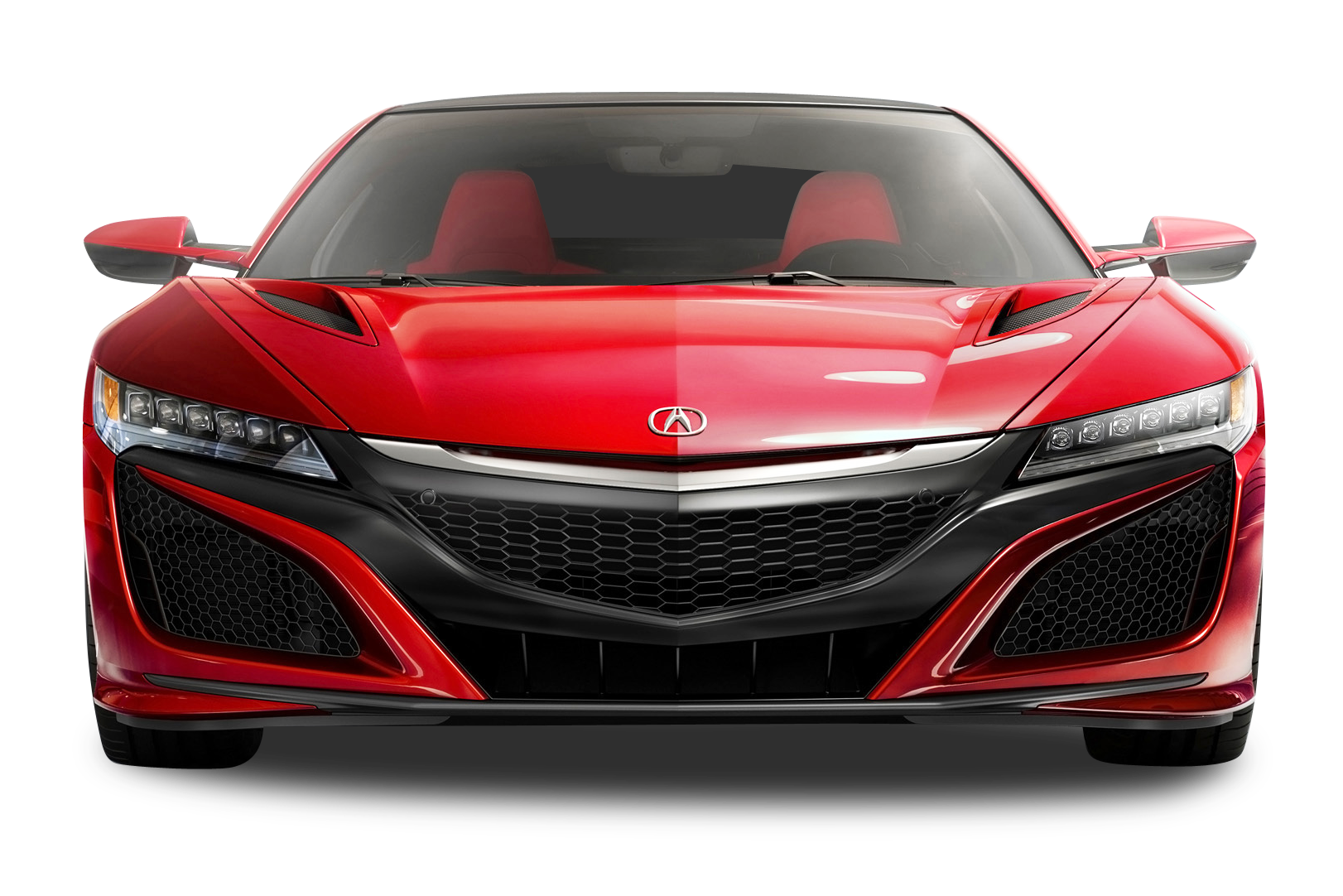 Red Acura NSX Car PNG Image.