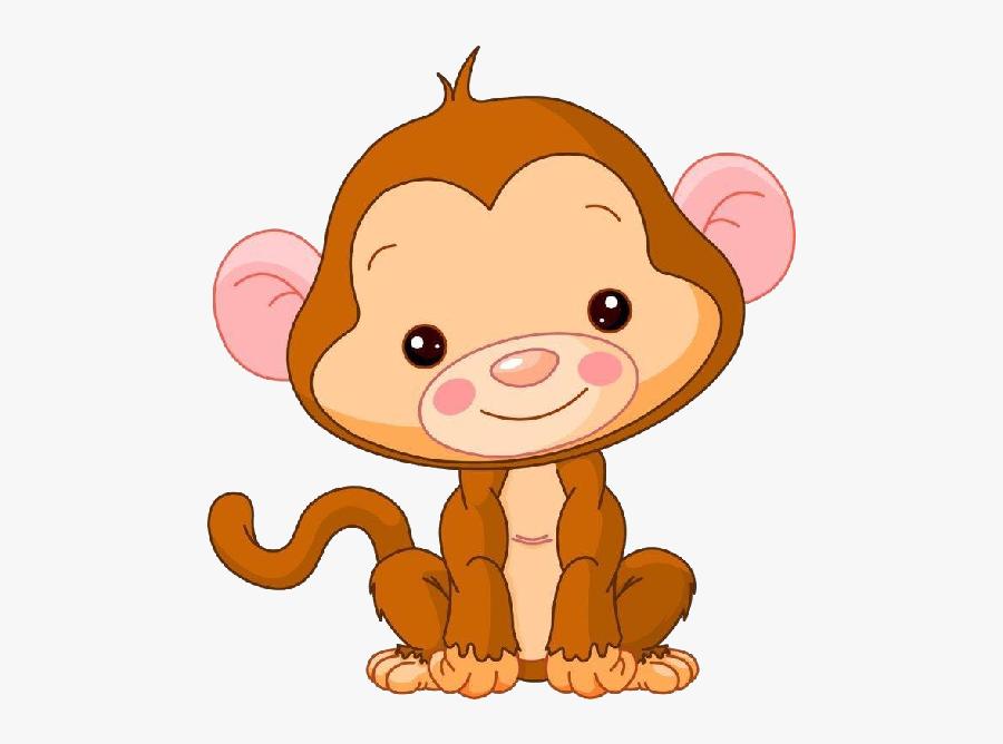 Cute Baby Monkey Clipart.