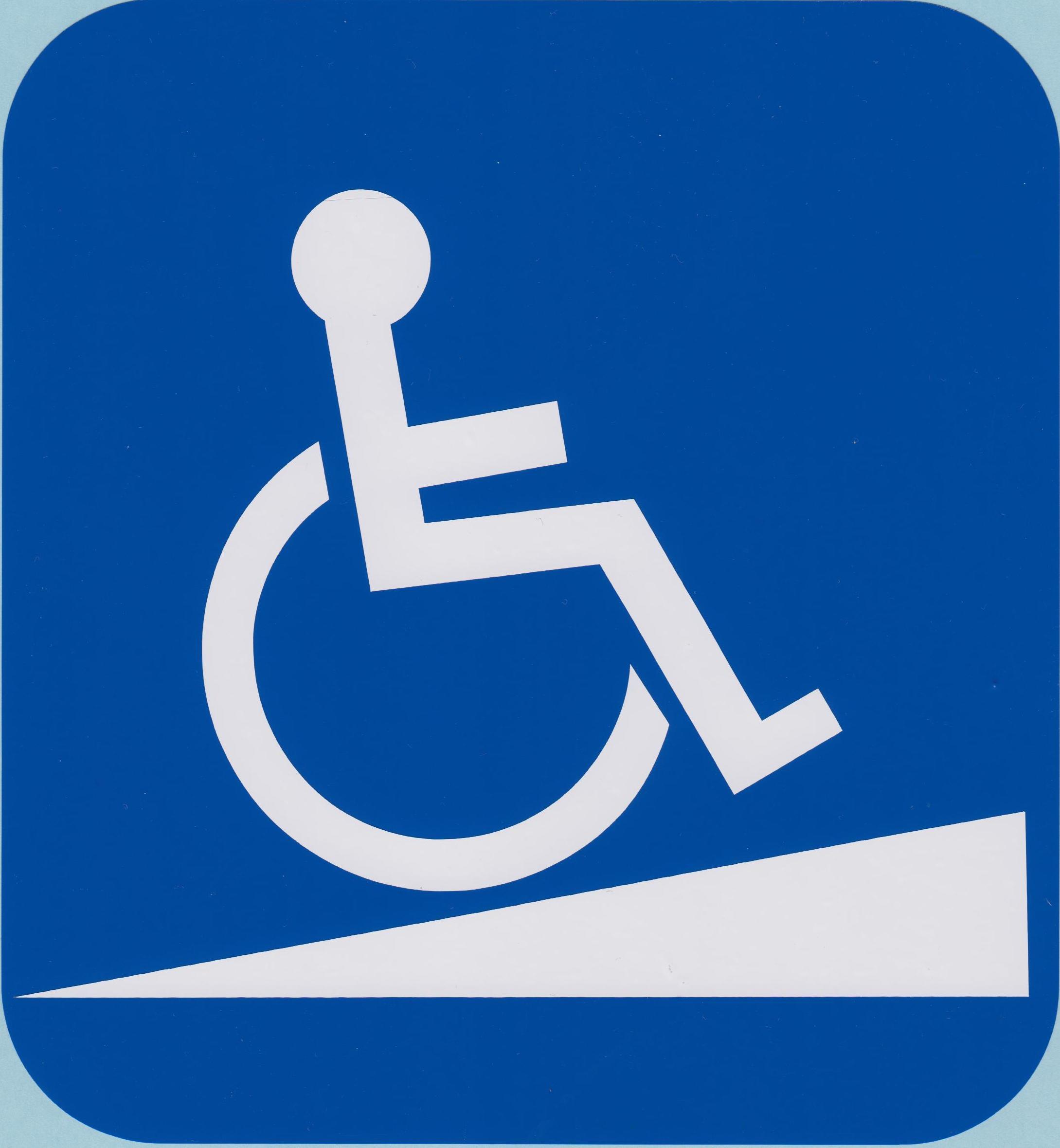 Wheelchair ramp clipart.