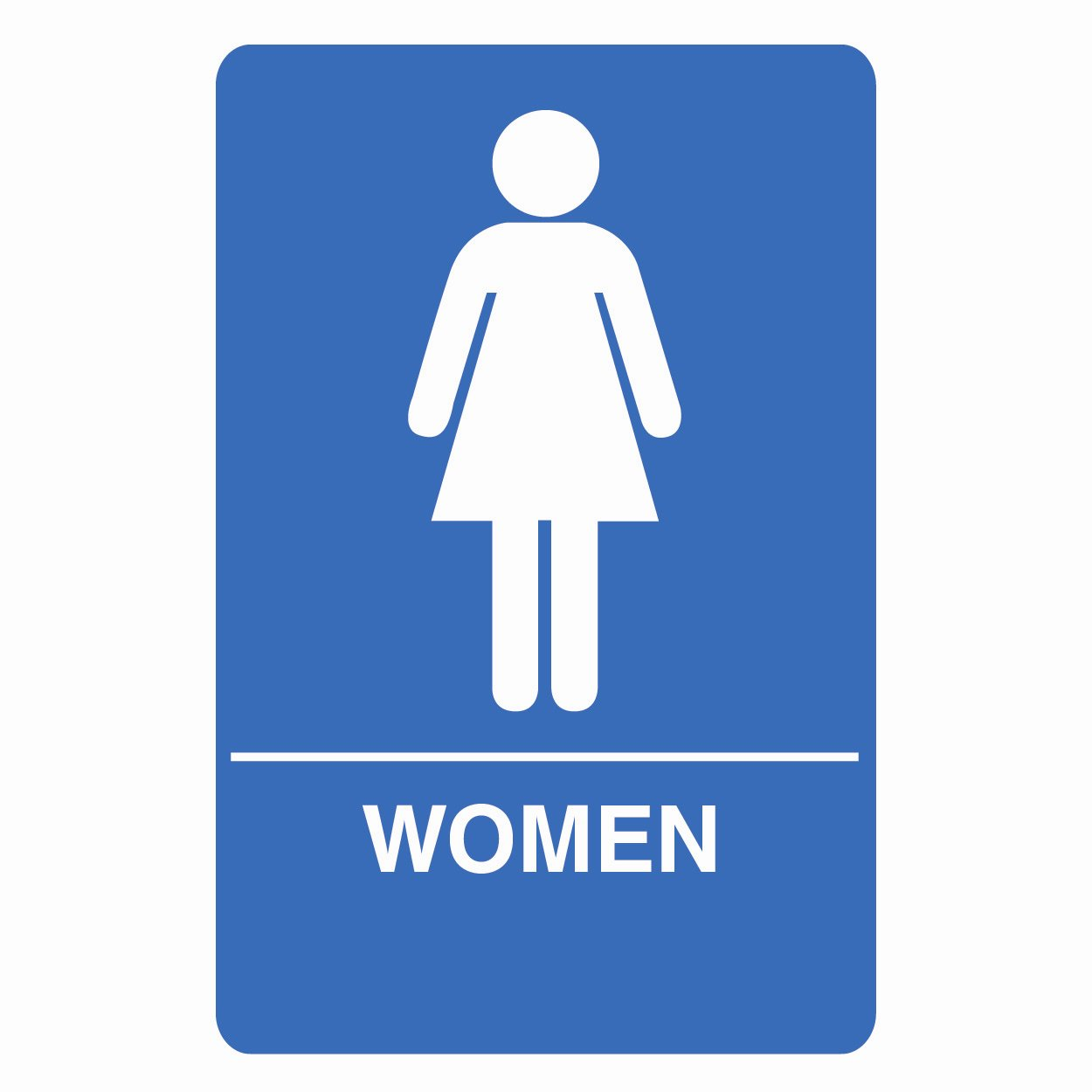 WoMENS RESTROOM SIGN.