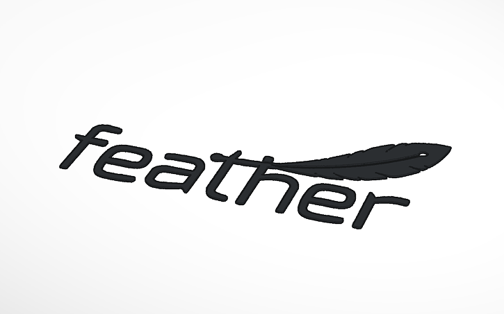 3D design Adafruit Feather Logo.
