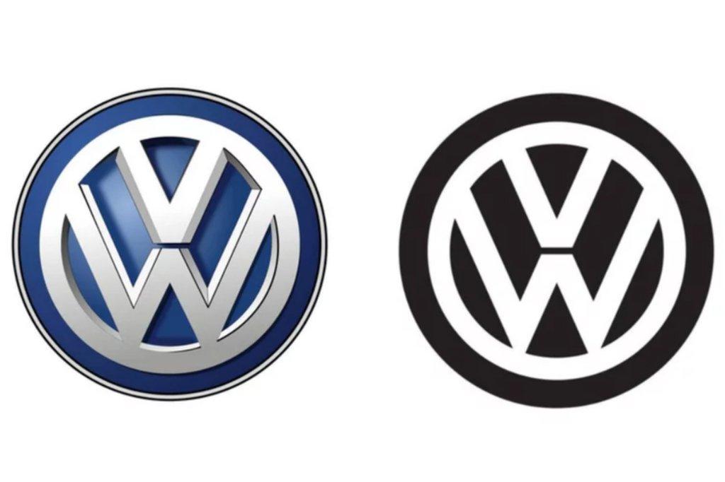 See Volkswagen\'s new logo.