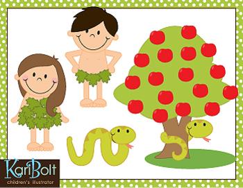 Adam and Eve Clip Art.