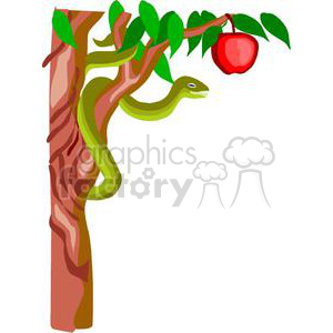 snake from Adam and Eve clipart. Royalty.