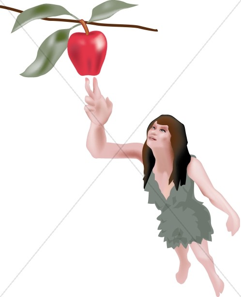 Religious Clipart of Eve in the Garden.