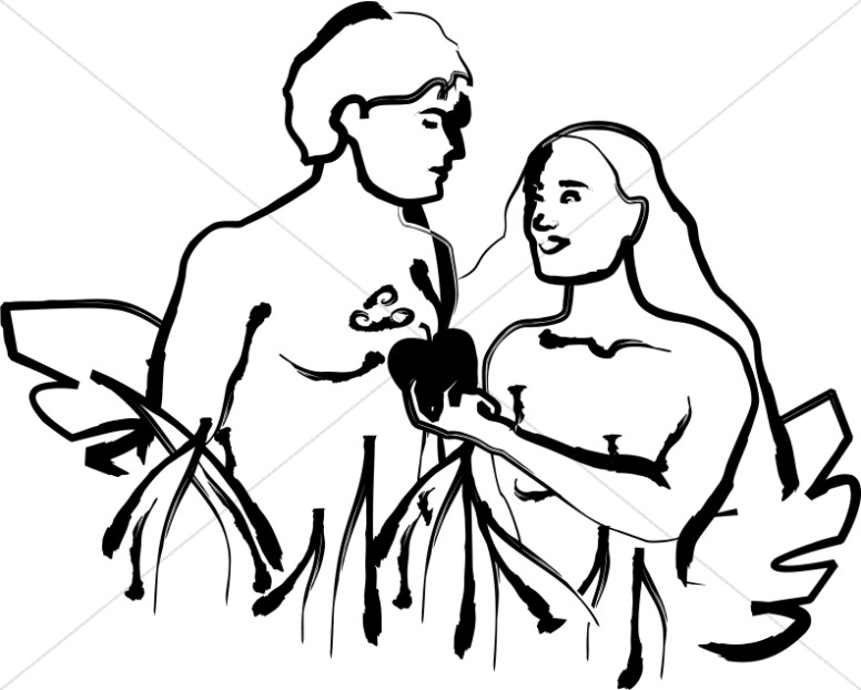 Christian Clipart of Adam and Eve.