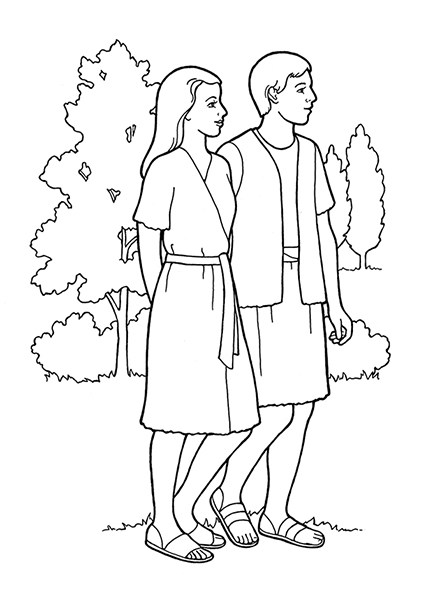 Adam and eve clipart black and white 3 » Clipart Portal.