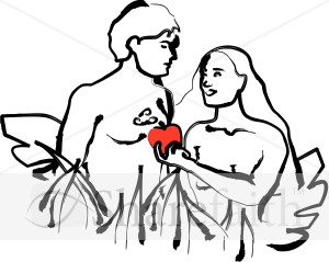 Religious Clipart of Adam and Eve.