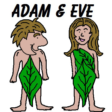 Adam and eve clipart free.