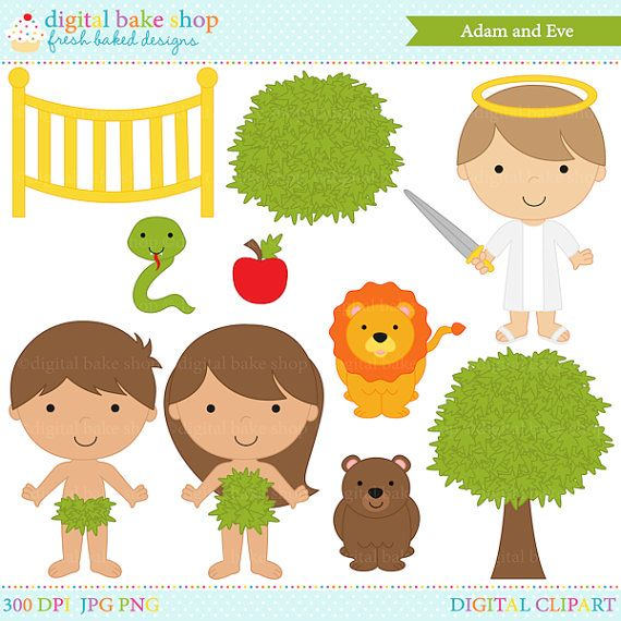 Cute Adam And Eve Clipart.