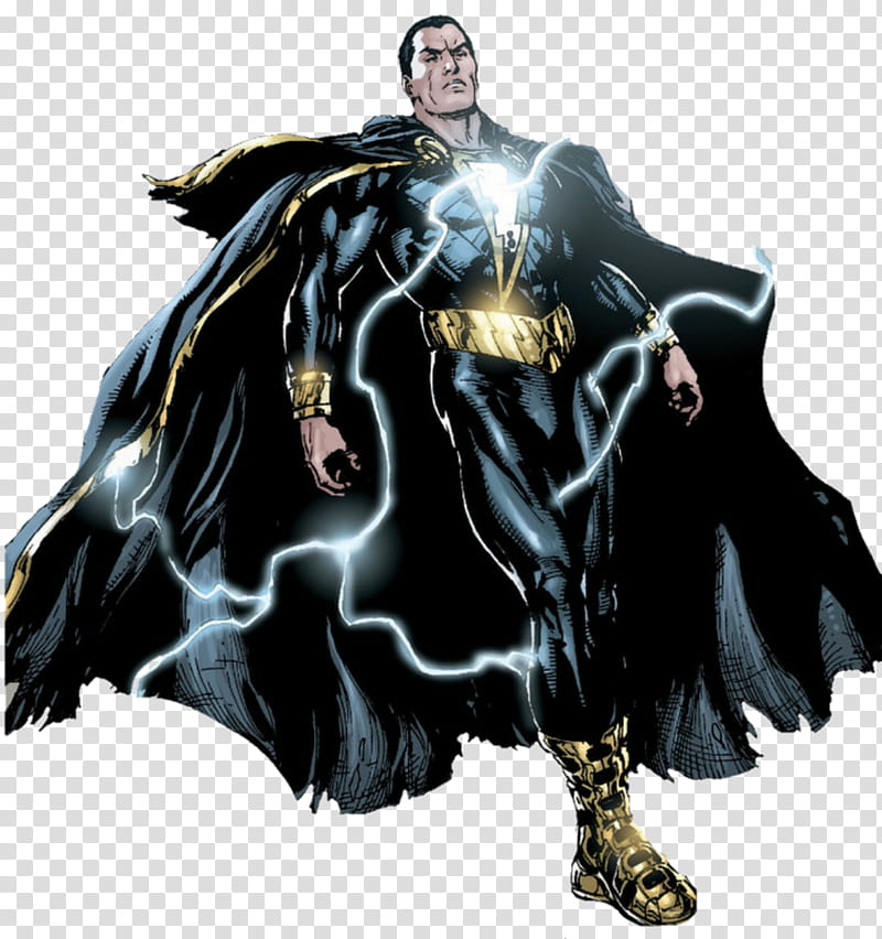 New black Adam transparent background PNG clipart.