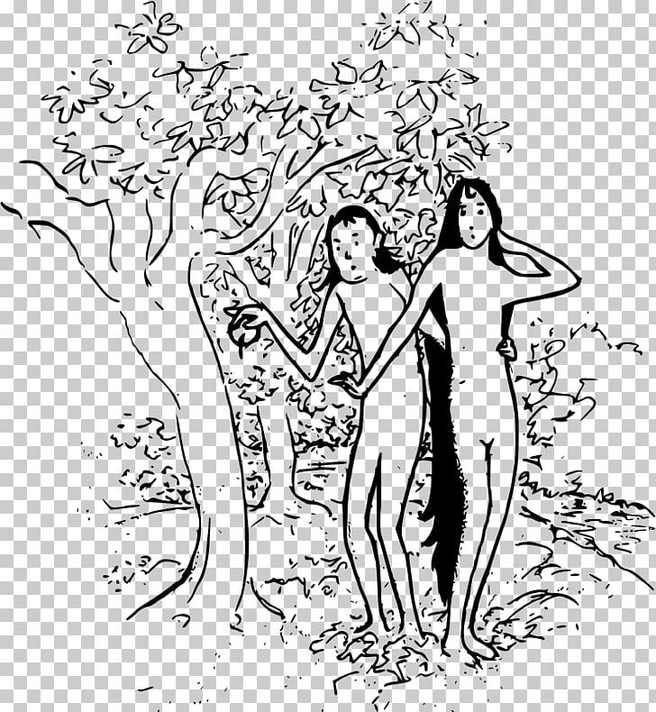 Garden of Eden Adam and Eve Cartoon , creation of adam PNG.