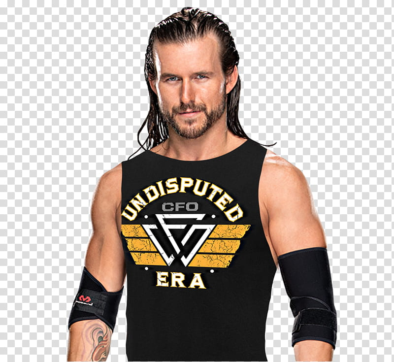 Adam Cole w Undisputed Era Tee transparent background PNG.