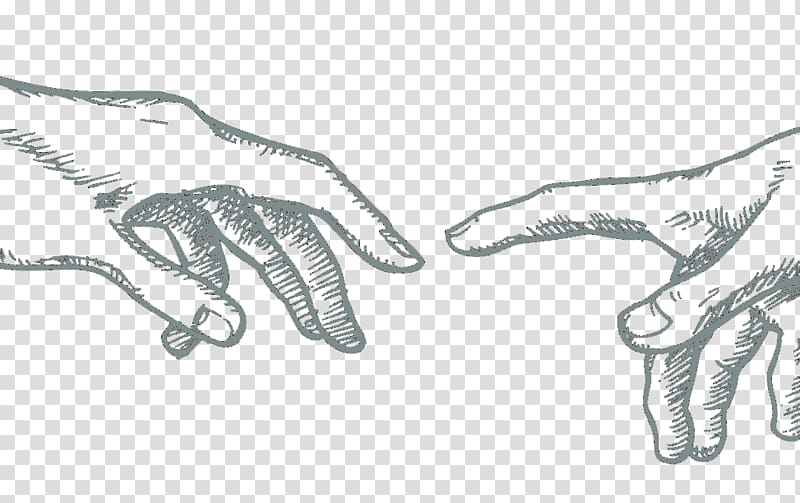The Creation of Adam Sistine Chapel ceiling Drawing.