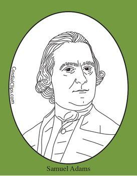 Samuel Adams Clip Art, Coloring Page, or Mini.
