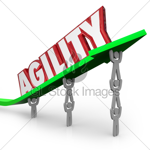 Agility Team Working Quickly Adapt Overcome Challenge · GL.