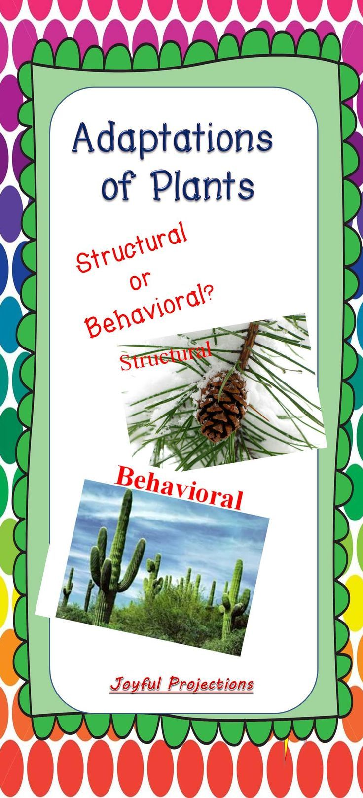 Plant Adaptations Structural or Behavioral Quiz.