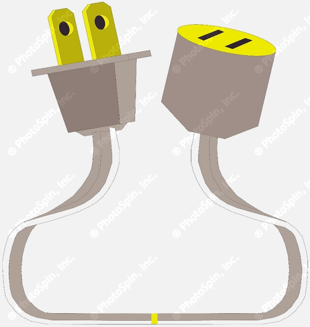 Plug adapter clipart #5