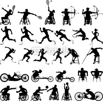Silhouette of disabled athletes from PrintingSociety.