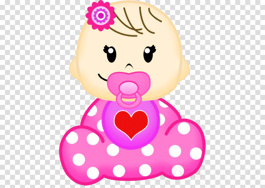 pink cartoon heart toy magenta clipart.