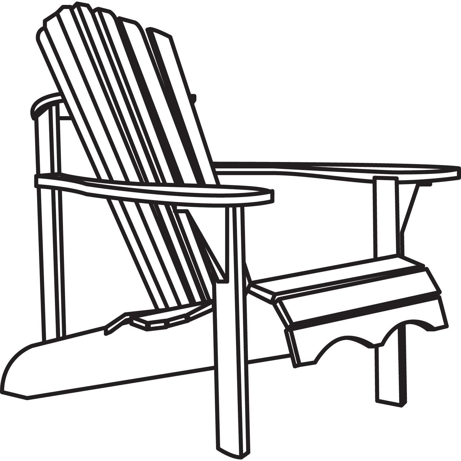 Adirondack chair clipart 4 » Clipart Station.
