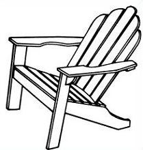 clipart and adirondack chair.