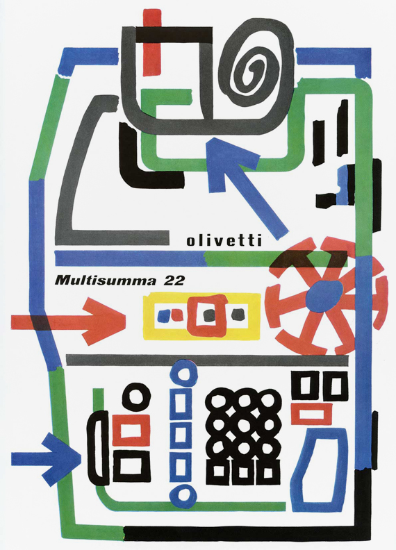 Diseño gráfico estilo retro: Giovanni Pintori.