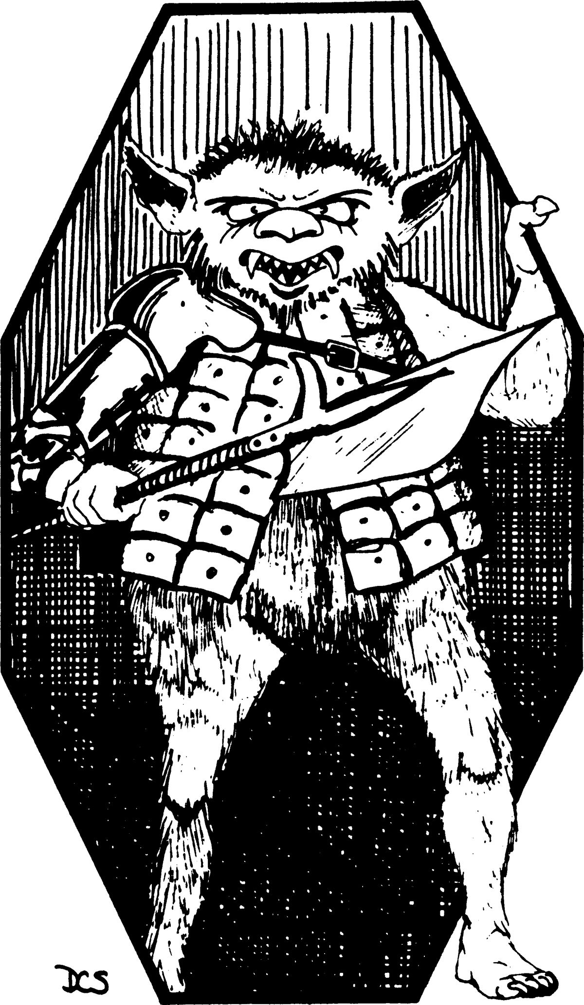 Bugbear (from the 1st Edition Monster Manual)..