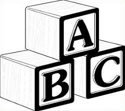 Free Abc Blocks Black And White, Download Free Clip Art.