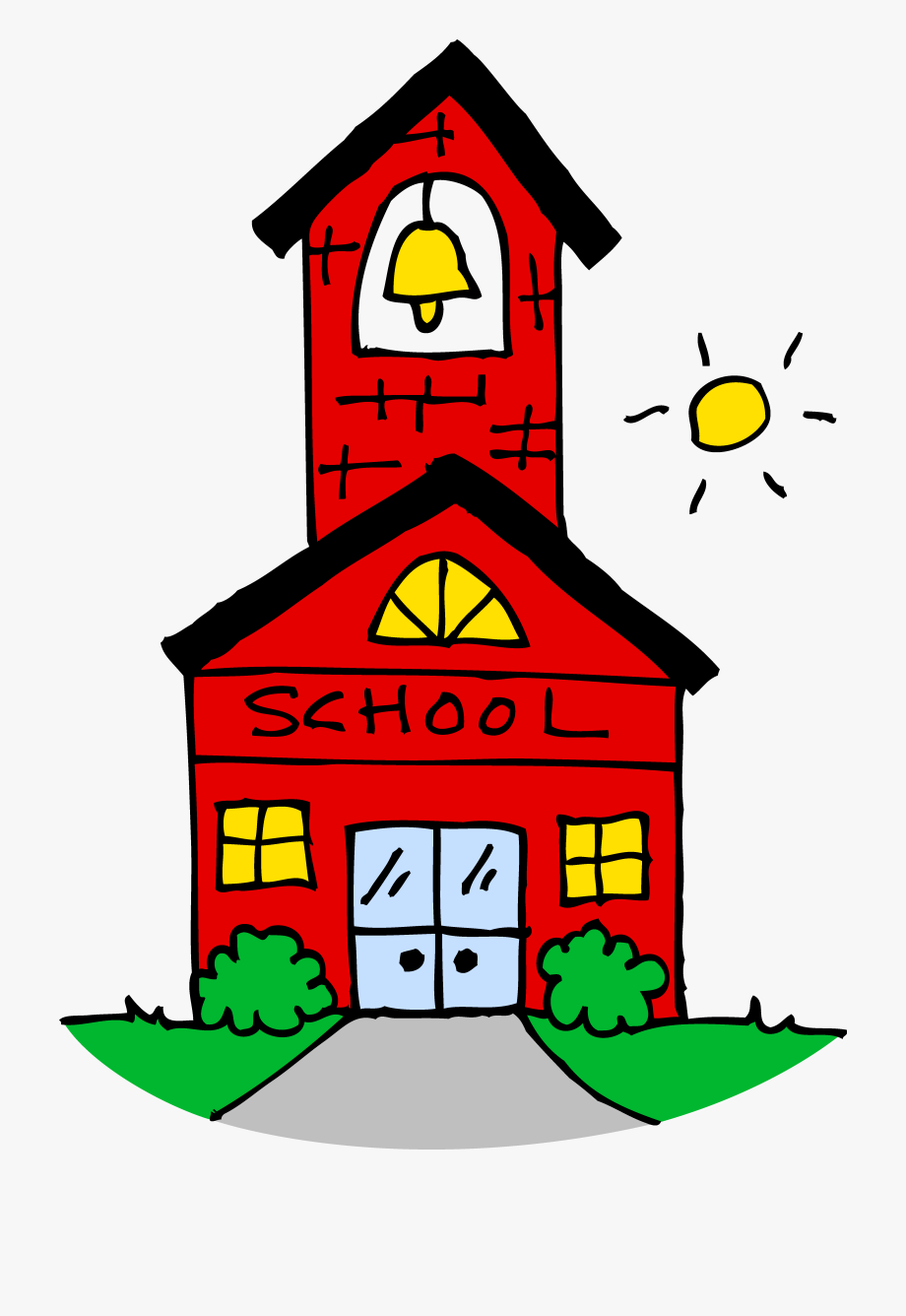 Beautiful Cute School House Clipart Free Clip Art.