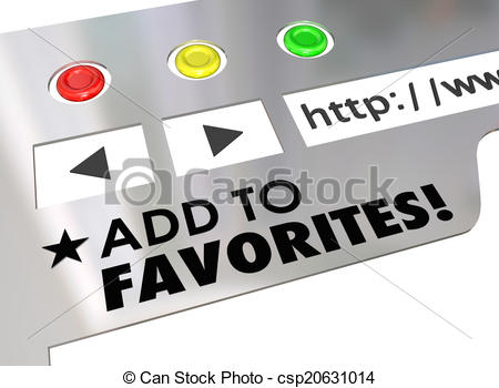 Clipart of Add to Favorites Website Browser Internet Bookmark Page.