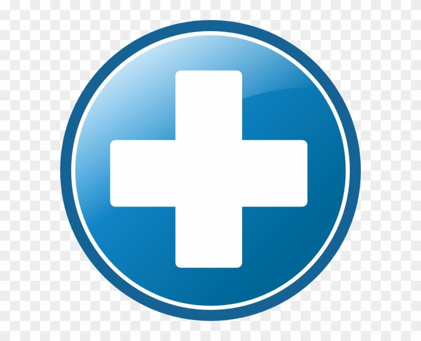Blue Plus Icon.