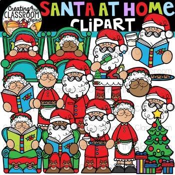 Santa at Home Clipart {Santa Clipart}.