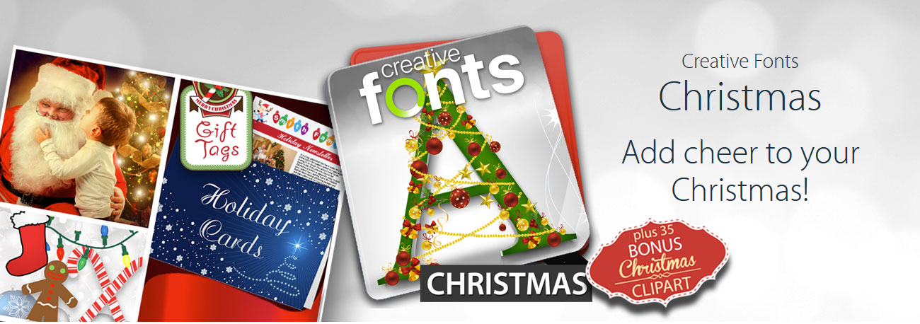 Christmas Fonts And Holiday Clipart In One Amazing Bundle.