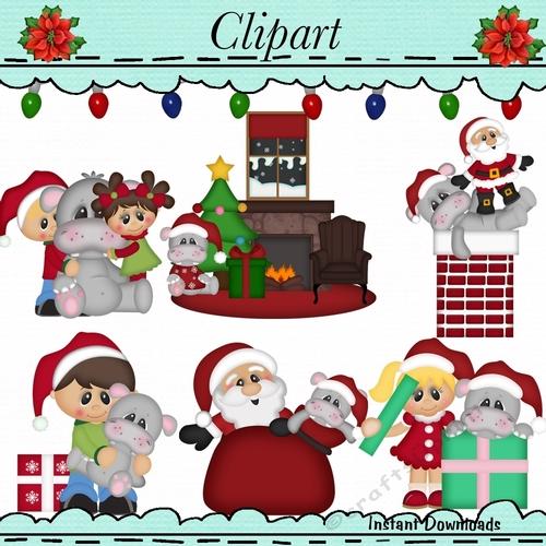 I Want a Hippopotamus for Christmas Clip Art.