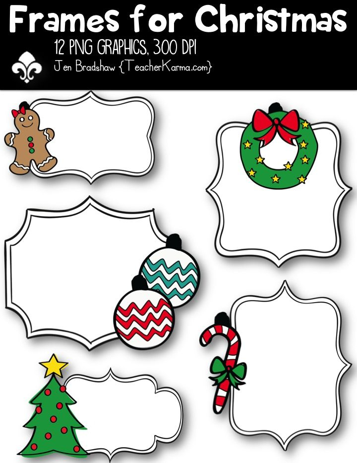 Frames for Christmas, Borders.
