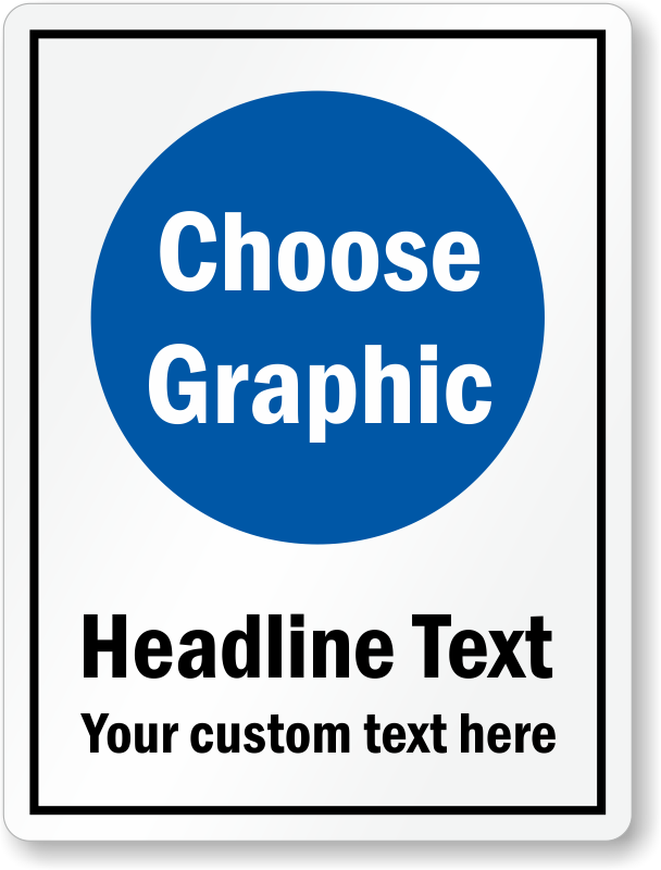 Custom Sign with Text and Clipart, SKU: S.