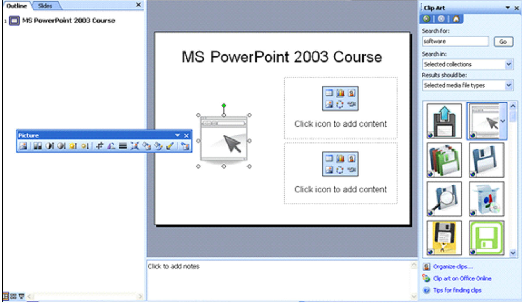 PowerPoint 2003: How to Add Pictures and Clip Art.