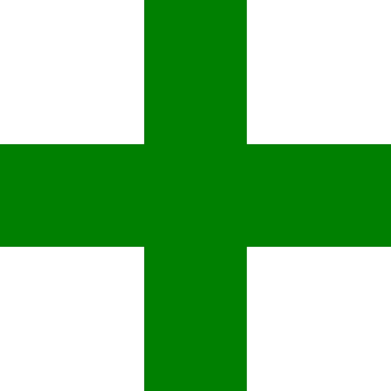 Add Plus Pharmacy Green PNG.