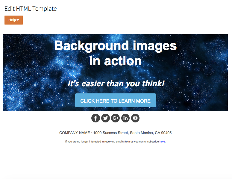 How to add background images to emails.