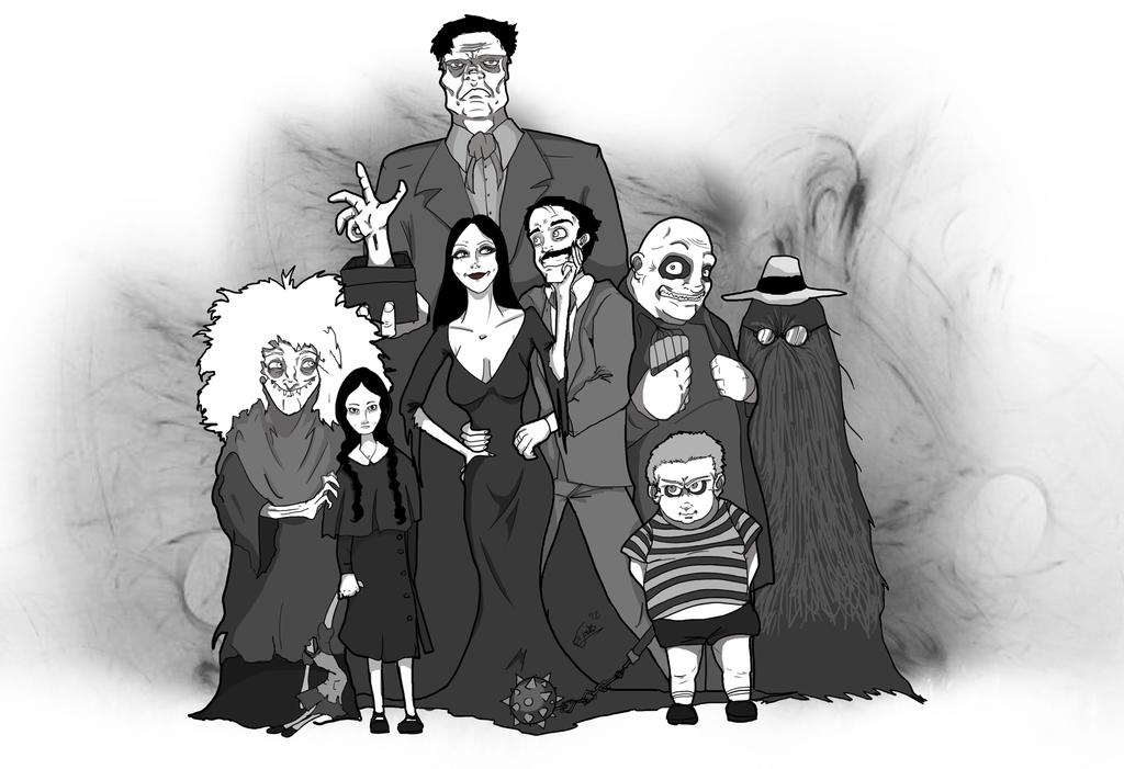 The Addams Family by *Ev.