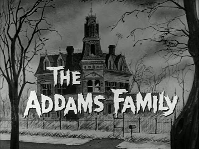 Addams Family House Silhouette.