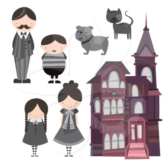 Addams Family Clipart.