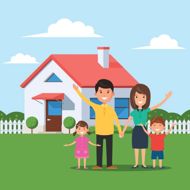 Family In A House Clipart.