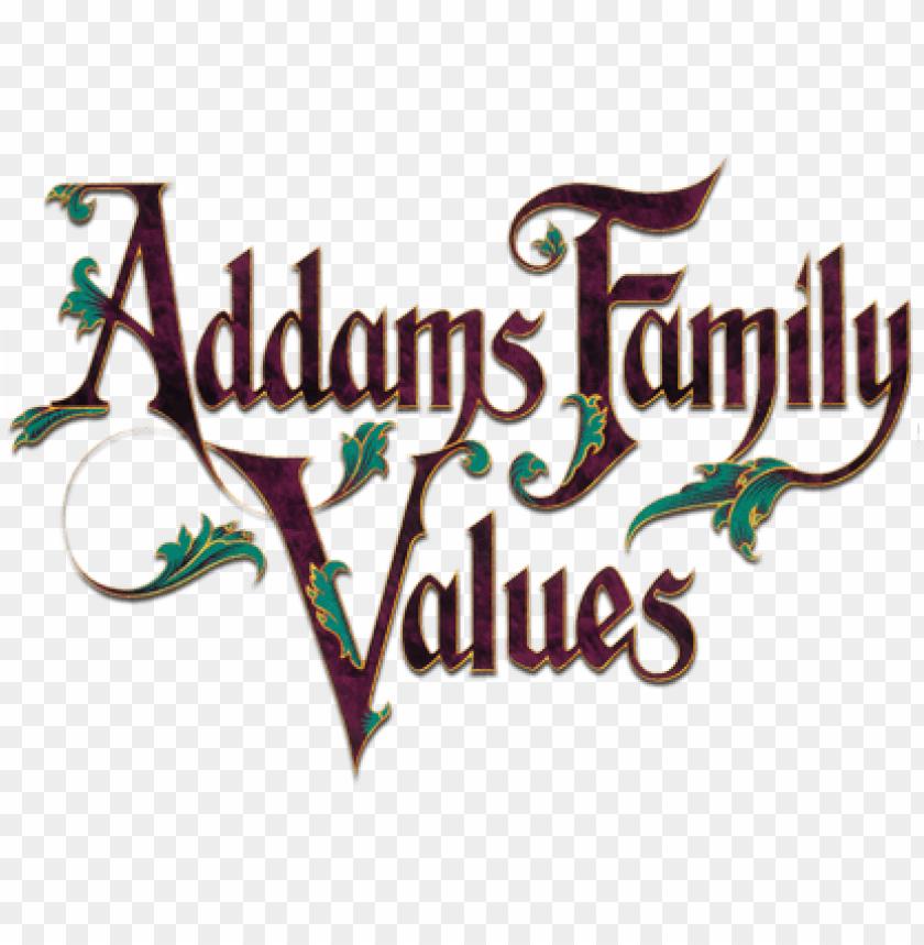 addams family values movie logo.