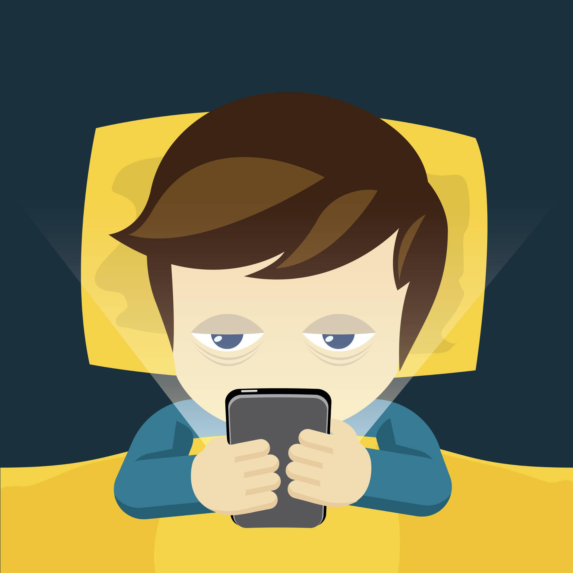 Phone Addiction Clipart.