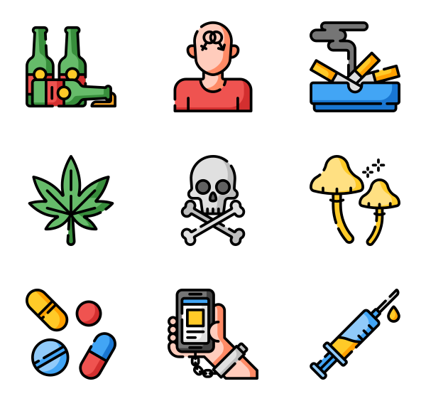 31 addiction icon packs.