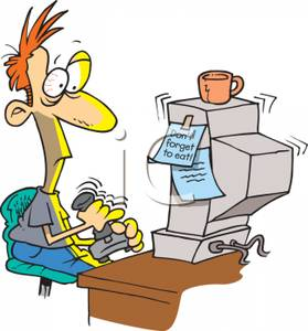 Computer Addiction Clipart.